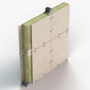 Parete SUPALUX-S 12 mm su struttura metallica - EI 120