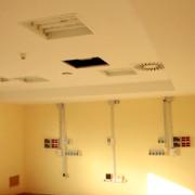 Esempio di riqualificazione impiantistica, nel reparto terapia intensiva neonatale Ospedale Salesi di Ancona